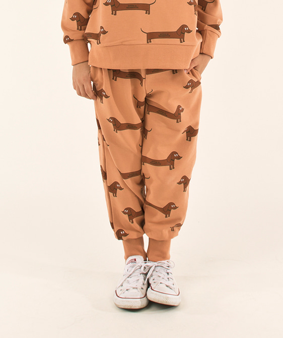 Il Bassotto Sweatpant (Baby/Kid) - Tan/Dark Brown