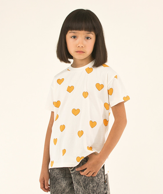 Hearts Tee - Off-White/Yellow