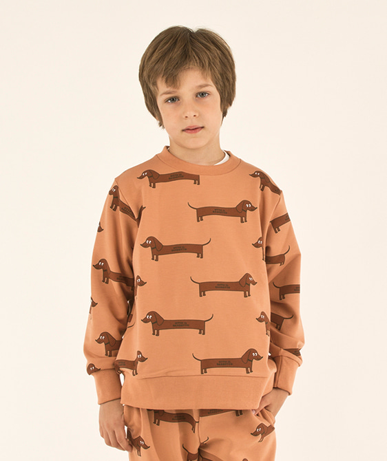 Il Bassotto Sweatshirt (Baby/Kid) - Tan/Dark Brown