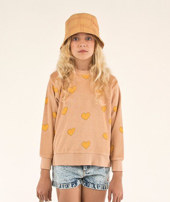 Hearts Sweatshirt - Light Nude/Yellow