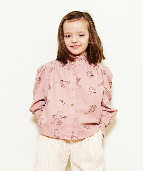 Printed Blouse  - Pink