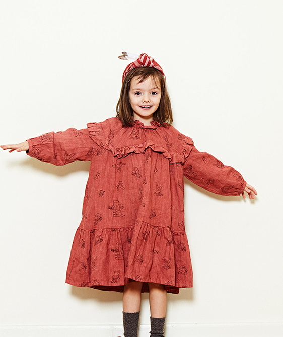 Gipsy Dress  - Brick Red