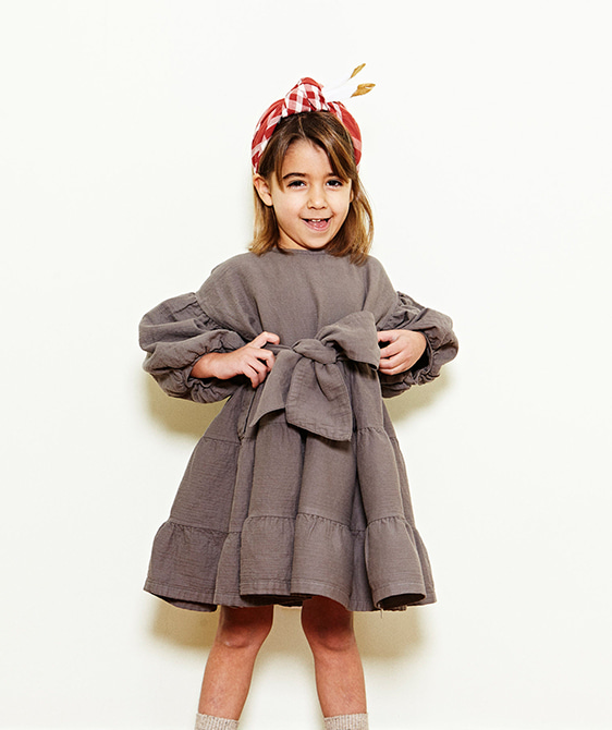 Bow Dress  - Chestnut