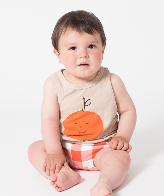 Tangerine Dreams Linen Tank Top #159