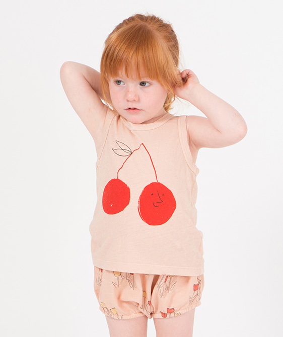 Cherry Linen Tank Top #161 ★ONLY 12-18M★