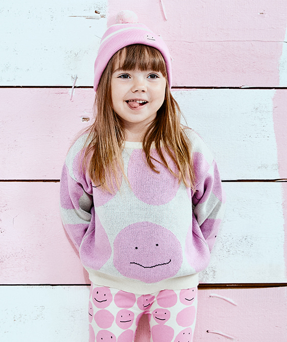 Smiley Sweater - Pink Smiley