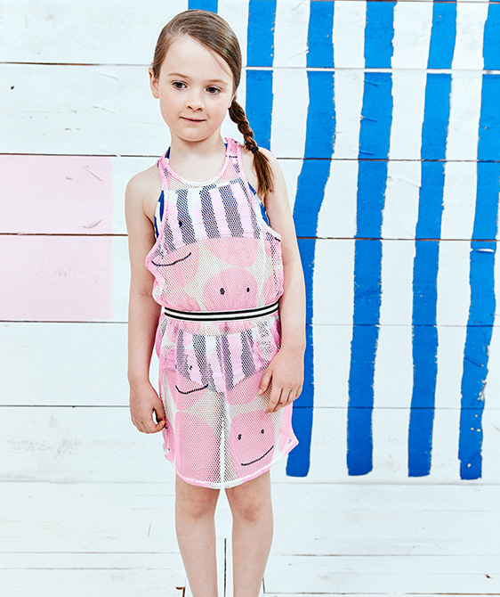 Net Dress - Pink Smiley ★ONLY 4Y★