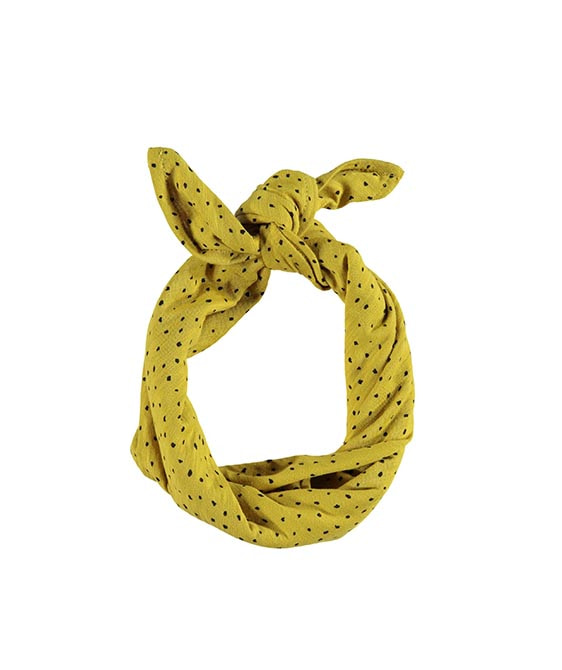 Bandana - Mustard With Black Dots