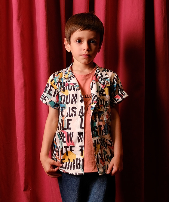 Bruno Kids Motto Shirts ★ONLY 6Y★