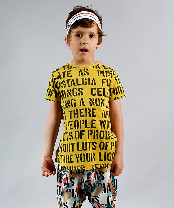Sebastiao Yellow Alphabet Soup T-Shirts