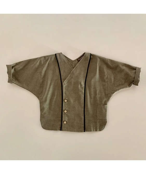 Zen Piping Shirt - Brown Check