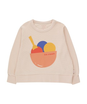 Ice Cream Sweatshirt - Pastel Pink/Light Papaya
