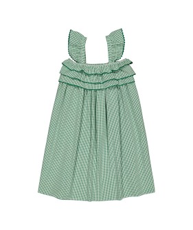 Tammy Dress (SS21-TDVG) - Vichy Green