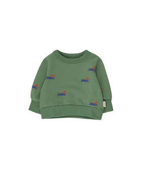◆2DROP◆ Doggy Paddle Baby Sweatshirt - Green/Iris Blue