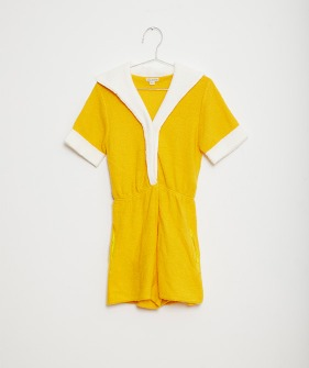 Yellow Sailor Playsuit - Yellow #FKS21-005