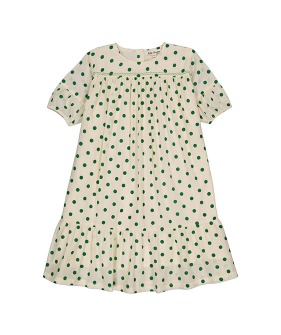 Violette Dress (SS21-VDDG) - Dots Green