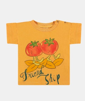 T-Shirt (F-354) - Marigold Tomato ★ONLY 8-9Y★