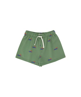 ◆2DROP◆ Doggy Paddle Short - Green/Iris Blue
