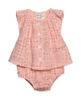 Layette Set - Peach Bandanna