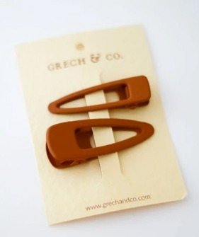 Matte Clips (Set Of 2) - Rust
