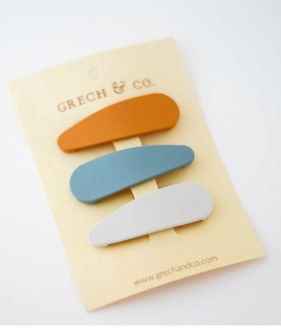 Matte Snap (Set Of 3) - Golden, Light Blue, Buff