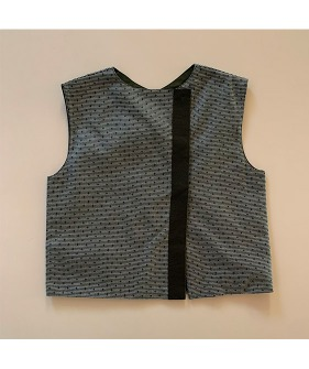 Lupo Reversible Vest - Green Flower