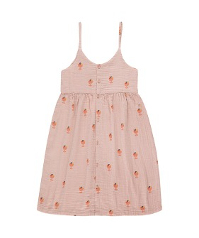 ◆4DROP◆ Ice Cream Cup Dress - Dusty Pink/Light Papaya