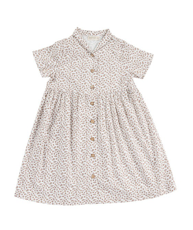 Judith Dress - White/Brown