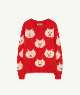 Arty Bull Kids Sweater - Red (F21084)