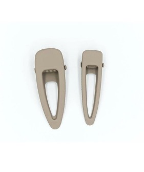 Matte Clips (Set Of 2) - Stone