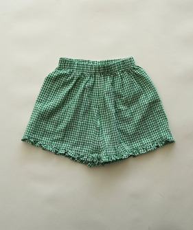 plaid Shorts - Green ★ONLY 120★
