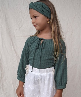 Amour Blouse - Aegean Green